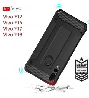 Vivo Y12 Y17 Y15 Y19 Rugged Armor Protection Case Cover Hard Casing Shockproof Housing