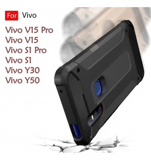 Vivo V15 V15 Pro S1 S1 Pro Y30 Y50 Rugged Armor Protection Case Cover Hard Casing Shockproof Housing