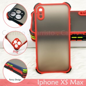 Iphone X XS Max XR Iphone 11 Pro Max Phantom Shockproof Case Housing Silicone Hard Back Cover Casing Camera Protection