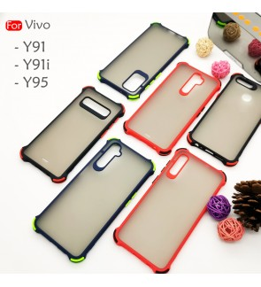 Vivo Y91 Y91i Y95 Phantom Shockproof Protection Case Housing Silicone Hard Back Cover Casing Camera