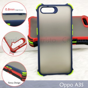 Oppo F9 A3S A5S A7 A1K Phantom Shockproof Protection Case Housing Silicone Hard Back Cover Casing Camera
