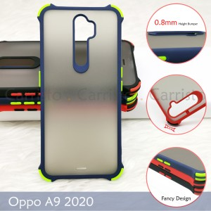 Oppo A9 2020 A5 2020 A12 A12E Phantom Shockproof Protection Case Housing Silicone Hard Back Cover Casing Camera
