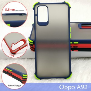 Oppo A91 A31 Reno 3 Reno 2F A92 Phantom Shockproof Protection Case Housing Silicone Hard Back Cover Casing Camera