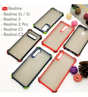 Realme 5 5S 5i Realme 2 Pro C1 C2 Phantom Shockproof Protection Case Housing Silicone Hard Back Cover Casing Camera