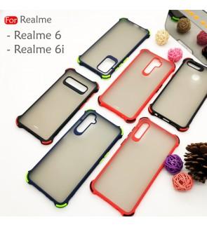 Realme 6 Realme 6i Phantom Shockproof Protection Case Housing Silicone Hard Back Cover Casing Camera