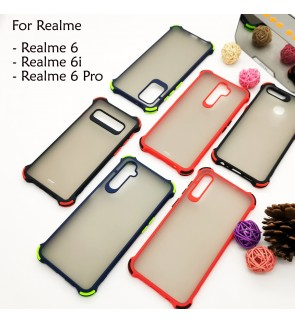 Realme 6 Realme 6i 6 Pro Phantom Shockproof Protection Case Housing Silicone Hard Back Cover Casing Camera