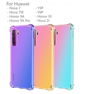 Huawei Nova 7 7SE Y5P Y6P Honor 9X Pro Honor 9A Honor 10 Nova 2i Rainbow Anti Shock Soft Casing Case Cover Air Housing
