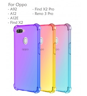 Oppo A92 A12E A12 Find X2 Pro Reno 3 Pro Rainbow Anti Shock Soft Casing Case Cover Air Bag Housing