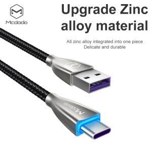 MCDODO Type C Super Fast Charging Data Cable With 5A QC 4.0 Type-C Wire Thicker Copper Nylon Braided Cable Huawei Oppo
