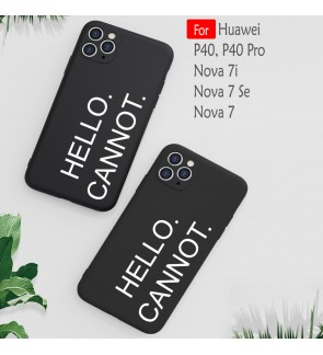 Hello Cannot Case For Huawei P40 P40 Pro Nova 7i Nova 7SE Nova 7 Liquid Silicone Cover Casing Back TPU Housing