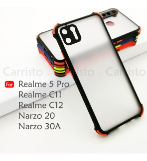 Realme 5 Pro Realme C11 C12 Narzo 20 30A Phantom Shockproof Case Housing Silicone Hard Back Cover Phone Mobile Casing