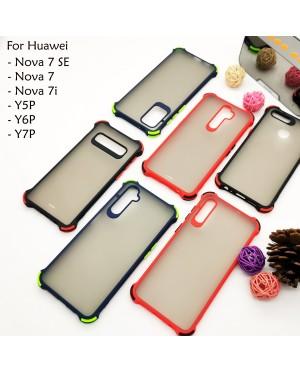 Huawei Nova 7SE Nova 7 7i Y5P Y6P Y7P Phantom Shockproof Protection Case Housing Silicone Hard Back Cover Casing Camera