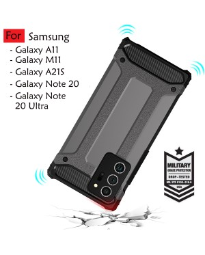Samsung Galaxy A21S A11 M11 Note 20 Note 20 Ultra Rugged Armor Protection Case Cover Hard Casing Shockproof Housing