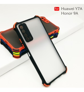 Huawei Y7A Honor 9A Phantom Shockproof Protection Case Housing Silicone Hard Back Cover Casing Camera