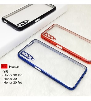 Huawei Y9S Honor 20 Pro Honor 9X Pro Electroplate Ver 4 Crystal Transparent Case Cover TPU Soft Lens Protection Casing