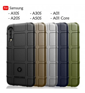 Samsung Galaxy A10S A20S A30S A50S A01 Core Rugged Shield Thick TPU Shockproof Case Cover Airbag Casing Housing