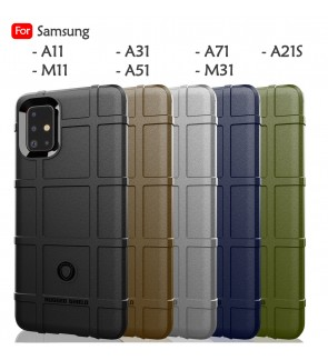 Samsung Galaxy A11 M11 A31 A51 A71 M31 A21S Rugged Shield Thick TPU Shockproof Case Cover Airbag Casing Housing