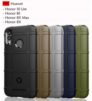 Huawei Honor 10 Lite Honor 8S Honor 8X Max Rugged Shield Thick TPU Shockproof Case Cover Airbag Casing Lens Housing